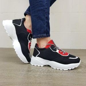 Shoes - Chunky Platform Heel Fashion Dad Sneakers- Q